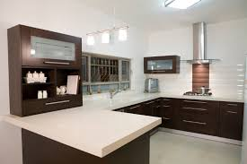 simple modern luxury kitchen ideas with u shaped dark brown