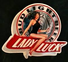 bud light tin signs bud light beer lady luck tin metal sign ebay