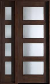 Modern Exterior Front Doors Modern Front Door Custom Single With 1 Sidelite Solid Wood