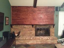 concrete over brick fireplace diy concrete fireplace for less than