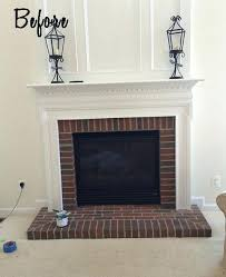 paint red brick fireplace black painted surround painting ideas