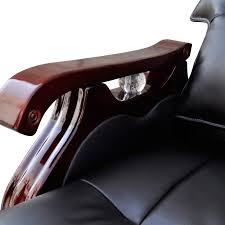 real leather adjustable massage office chair