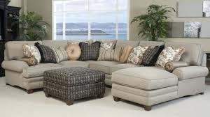 Tufted Sectional Sofa Klaussner Loomis Grey Sectional Gray And Lights With Light Gray