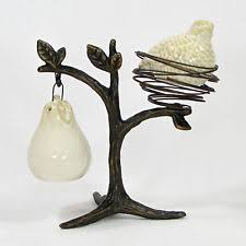 Pottery Barn Tree Pottery Barn Partridge In A Pear Tree Salt U0026 Pepper Shaker Set 3pc