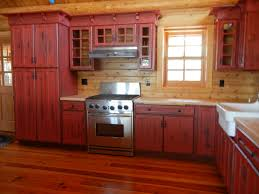 kitchen amazing rustic red painted kitchen cabinets ideas rustic