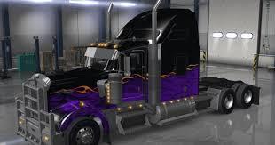 dark night paintjob for kenworth w900 truck american truck