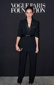 emma watson looks racy in black midriff flashing lacy two piece