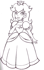 mario and princess peach coloring page free download