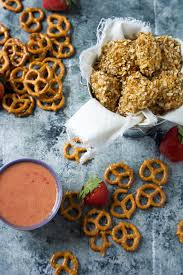 honey mustard pretzel dip honey mustard pretzel crusted chicken bites with strawberry dijon