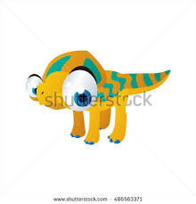 coloring cool cartoon funny dinosaur illustration stock vector