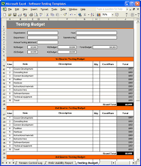 Quality Assurance Excel Template Test Plan Template Excel Calendar Template Excel