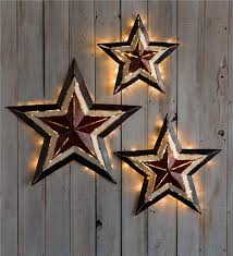 large lighted americana metal décor plow hearth