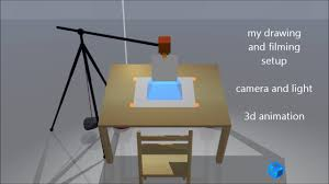 Light Up Drafting Table How To Film A Speed Drawing Camera And Light Setup 3d Animation