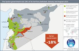 Syria Conflict Map by Syrian Government Loses 5 6th Of Territory Ihs Says Ihs Online