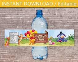 pooh water bottle etsy
