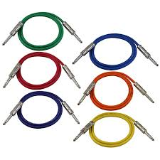 amazon gls audio 3ft patch cable cords 1 4