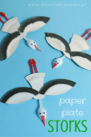 paper plate stork craft for kids paper plates pinterest