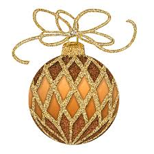 gold ornament clipart happy holidays