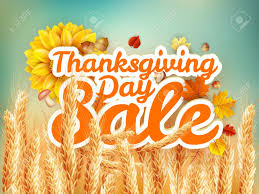 thanksgiving day sale headline template eps 10 vector file