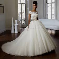 ballgown wedding dresses gown wedding dresses with lace cap sleeves naf dresses