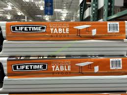 lifetime folding tables 6 lifetime 6 fold in half table 80264 costcochaser