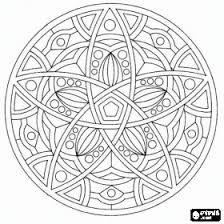 classic circular mandala children u0027s coloring pages