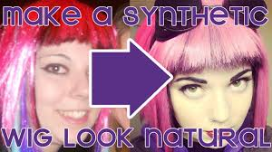 how to make a cheap synthetic wig look natural youtube