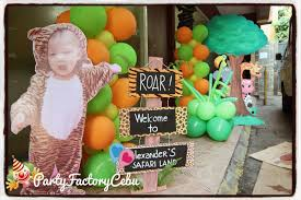 welcome to partyfactory cebu alexander u0027s 1st safari birthday party