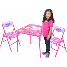 Outdoor Childrens Table And Chairs Peppa Pig Table And Chairs Set Walmart Com