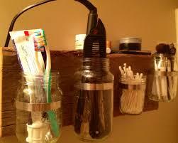 Mason Jar Bathroom Organizer Mason Jar Organizer Bathroom Home Design Ideas