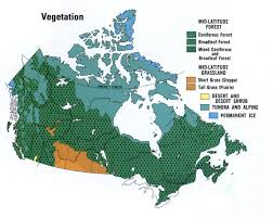 Canada On The Map by Vegetation Of Canada