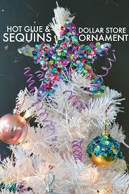 easy glue sequin ornament