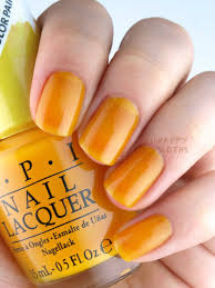 Yellow Swatches Opi Color Paints Blendable Nail Lacquer Collection Review And