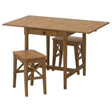 Solid Pine Table Ingatorp Ingolf Table And 2 Stools Antique Stain 59 Cm Ikea