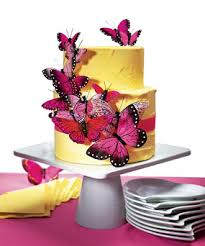 hand painted romantic pink butterfly cake decoration hansonellis com