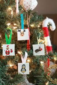 mini canvas thumbprint ornaments