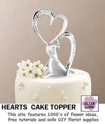 heart cake topper heart wedding cake toppers
