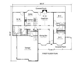 farmhouse style house plan 3 beds 2 baths 1554 sq ft plan 312