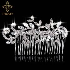 wedding hair combs treazy beautiful floral wedding hair jewelry silver plated