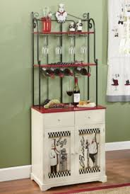 Bakers Rack With Wine Glass Holder Bon Appetit Bakers Rack From Montgomery Ward Kitchen Style