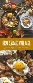 bread apple sausage hash