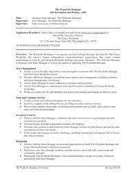 Sales Supervisor Job Description Resume by Boutique Job Resume Cv Cover Letter