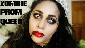 Dead Prom Queen Halloween Costume Zombie Prom Queen Bride Halloween Makeup