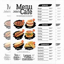 simple menu template free cafe menu template 40 free word pdf psd eps indesign format