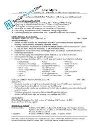Cover Letter Microbiologist Sample Resume Medical Technologist