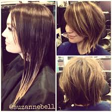 long hair to short messy bob before u0026 after before u0026 after