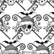 skull wrapping paper gift shrouds wrapping paper