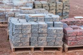 Patio Paver Blocks Patio 5 21856998 Stacks Of Various Colored Concrete Pavers
