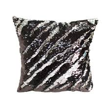 White Bedroom Throw Pillows Decorative Sequin Throw Pillow 17x17 Inch Comfortable Fill For