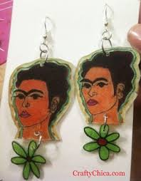 frida earrings frida kahlo diys the crafty chica